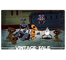Vintage robots for sale Photographic Print