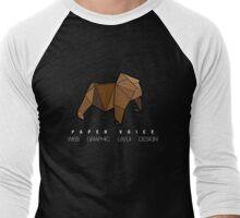 Paper Voice Logo 2 Men's Baseball ¾ T-Shirt