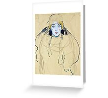 Gustav Klimt - Head Of A Woman  Greeting Card