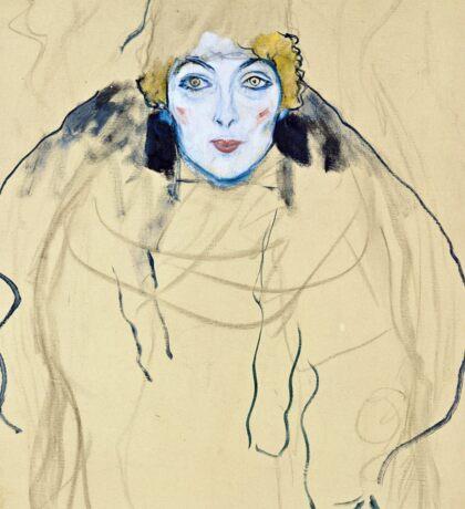 Gustav Klimt - Head Of A Woman  Sticker