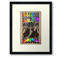 Coldplay - Graffiti Silence Framed Print