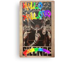Coldplay - Graffiti Silence Canvas Print