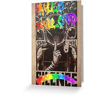 Coldplay - Graffiti Silence Greeting Card