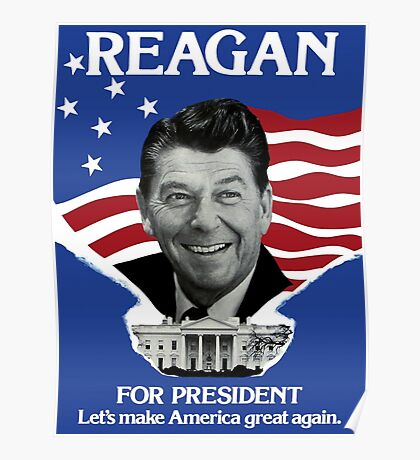 Vintage Ronald Reagan 1980 Campaign Poster - Make America Great Again Poster