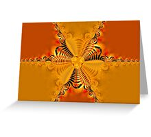 Twisting and turning colorful shapes Greeting Card