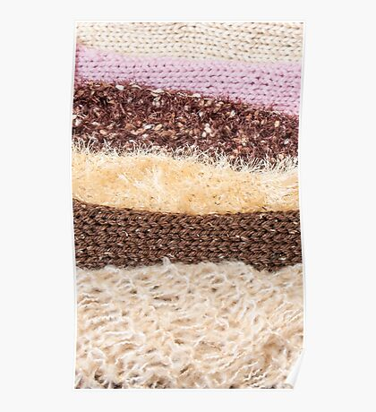Knit layers Poster
