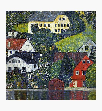 Gustav Klimt - Houses At Unterach On The Attersee Photographic Print