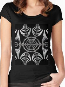 Abstract shapes and patterns Women's Fitted Scoop T-Shirt