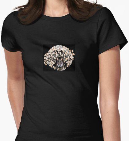 Possum tree Womens Fitted T-Shirt
