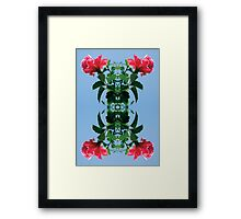 Pink and Leaves Framed Print