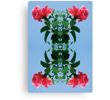 Pink and Leaves Canvas Print