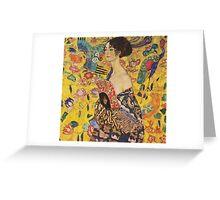 Gustav Klimt - Lady With Fan 1918 Greeting Card