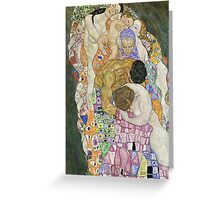 Gustav Klimt - Life And Death Detal Greeting Card