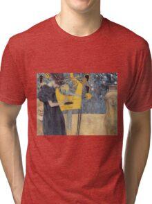 Gustav Klimt - Music 1 1895 Tri-blend T-Shirt