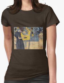 Gustav Klimt - Music 1 1895 Womens Fitted T-Shirt