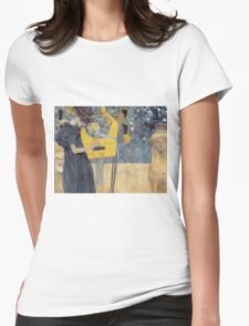 Gustav Klimt - Music 1 1895 Womens Fitted T-Shirt