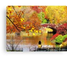 Autumn Paradise, Central Park - NYC Canvas Print