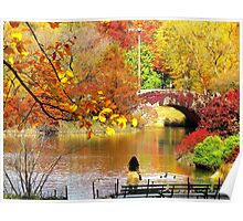 Autumn Paradise, Central Park - NYC Poster