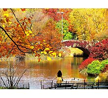 Autumn Paradise, Central Park - NYC Photographic Print