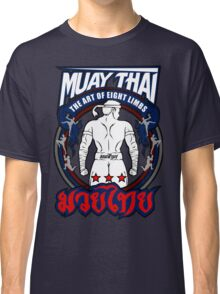 muay thai fighter strong back thailand martial art Classic T-Shirt