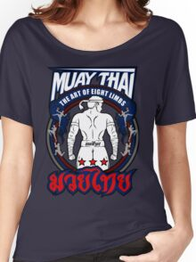 muay thai fighter strong back thailand martial art Women's Relaxed Fit T-Shirt