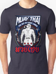 muay thai fighter strong back thailand martial art Unisex T-Shirt