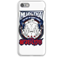 muay thai fighter strong back thailand martial art iPhone Case/Skin