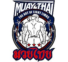 muay thai fighter strong back thailand martial art Photographic Print