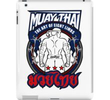 muay thai fighter strong back thailand martial art iPad Case/Skin