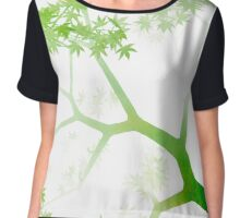 Japanese maple tree in the fog Chiffon Top