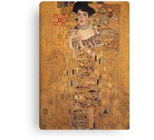 Gustav Klimt - Portrait Of Adele Bloch-Bauer, 1907 Detal 1 Canvas Print