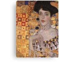 Gustav Klimt - Portrait Of Adele Bloch-Bauer, 1907 Detal 2 Canvas Print