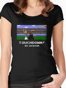 Touchdown! Bo Jackson - Tecmo Bowl (NES) Women's Fitted Scoop T-Shirt