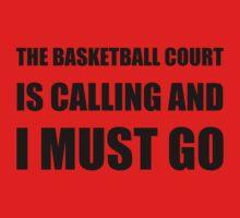 Basketball Court Calling Must Go Baby Tee