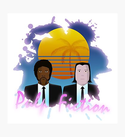 80s Inspired Pulp Fiction Photographic Print