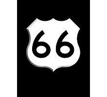 ROUTE 66, Get your Kicks on Route 66, US 66, USA, America, Will Rogers Memorial Highway Photographic Print