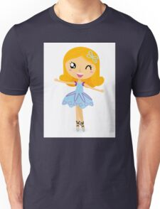 Cute dancing little ballerina girl Unisex T-Shirt
