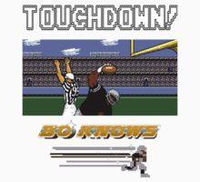 Bo Knows *DELUXE* - Tecmo Bowl (NES) Kids Tee