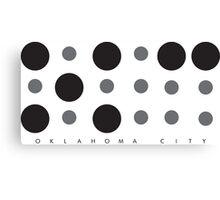 Oklahoma City Braille Logo Canvas Print