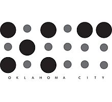 Oklahoma City Braille Logo Photographic Print