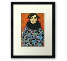 Gustav Klimt - Portrait Of Johanna Staude 1918 Framed Print