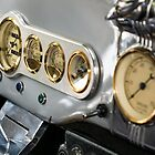 Hot Rod Dashboard - Chrome, grey and brass by Mike Koenig