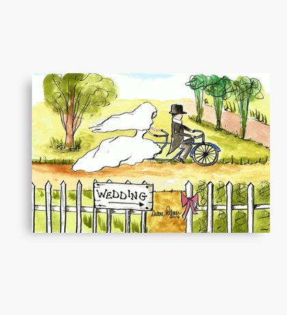 Bicycle Wedding Canvas Print