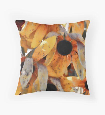 Aftermath (Hurricane Irene) - Rudebeckia Throw Pillow