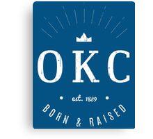 OKC Born & Raised Canvas Print