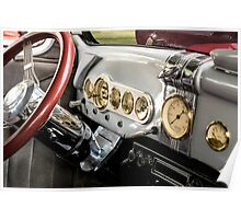Automobile Dash with Brass, Chrome and Grey paint Poster