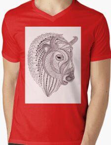 Glacier Buffalo Mens V-Neck T-Shirt