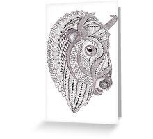 Glacier Buffalo Greeting Card