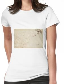 Gustav Klimt - Reclining Nude Lying On Her Stomach And Facing Right Womens Fitted T-Shirt