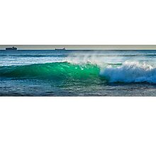 Ocean wave with ships Photographic Print